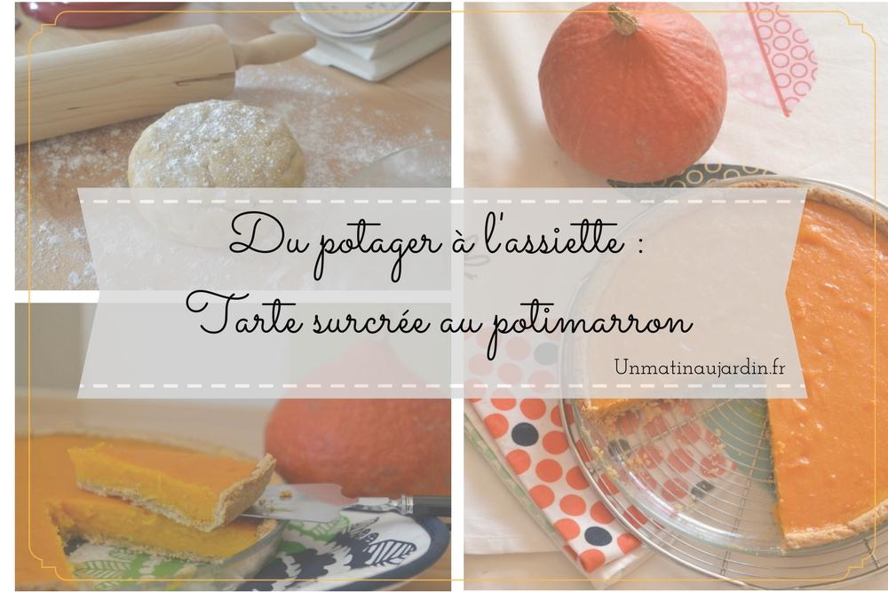 Recette simple et rapide de Tarte sucrée au potimarron et fleur d'oranger