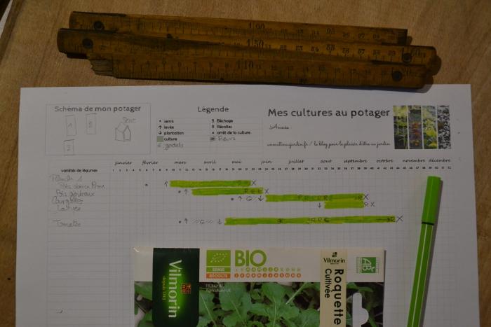 printable gratuit : un tableau pour suivre ses cultures du potager